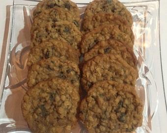 2 Dozen Homemade Oatmeal Raisin Cookies ~ Gluten Free Option ~ DELICIOUS!