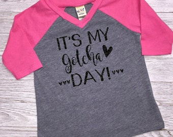 It's My Gotcha Day Shirt | Optional Bow | Adoption Shirt | Forever Family Shirt | Adoption Annoucement | Adoption Gift | Worth The Wait