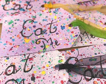 Alice in Wonderland Eat Me Tags Made-To-Order Eat Me Tags Alice in Wonderland Party Decorations Whimsical Eat Me Tags Colorful Party Tags
