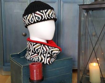 Spikerking Winter Knit Wool Warm Hat Beanie Skull Cap Winter Beanie Stocking Cap Cold Weather Headwear Jacquard Hat Skiing Hats Snowboarding