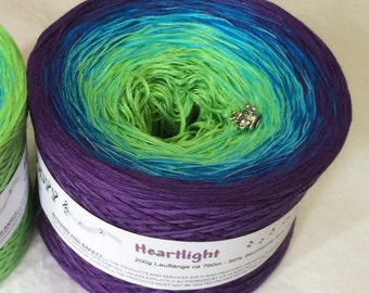 Heartlight - Wolltraum Yarn - Gradient Yarn - Cotton Yarn - Acrylic Yarn - My Melodyy by Wolltraum - Color Changing Yarn - Ombré Yarn