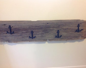 Reclaimed Barn Wood Coat Rack - Anchor Decor