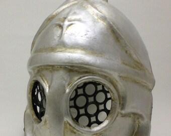 Roman Gladiator Mask – Silver