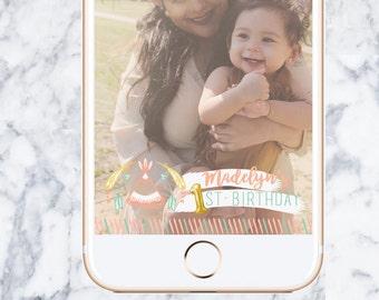 Bohemian Snapchat Birthday Geofilter