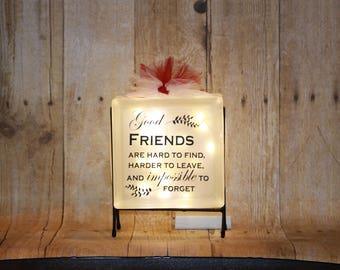 Friends Glass Block
