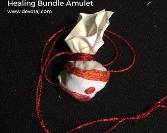 Custom Healing Bundle Amulet | Herbs, Crystals, Spiritual, Jewish,