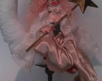 Ooak Art Doll Luna posable Pierrot by Moninesfaeries
