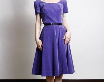 SALE - Purple Velveteen Dress