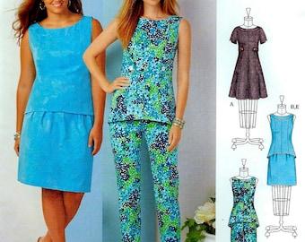 MISSES & PLUS SIZE Sewing Pattern ~  Slim Pants Dress Skirt Top Sizes 10-18