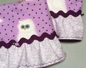 Pillowcases Purple with Owls