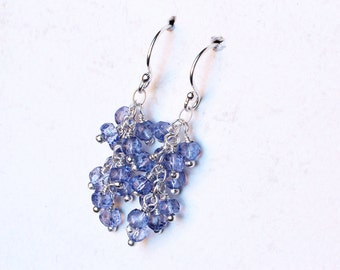 "Tanzanite Earrings, Tanzanite Jewelry, Sterling Silver - ""Violet Cascade"" by CircesHouse on Etsy"