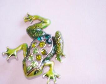Frog Green Rhinestone Pendant