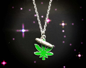 Pot leaf and Blunt necklace