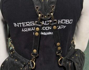 Phoenix Mars Black Leather Shoulder holster  bag