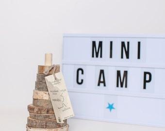 Eco-Friendly developmental educational toy Pyramid wood stacker WOODY