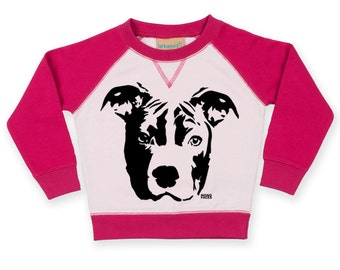 Pit Bull Terrier Baby Sweatshirt, Pit Bull Toddler Sweatshirt, Personalised Baby Jumper, Custom Toddler Jumper, Pit Bull Owner Baby Gifts