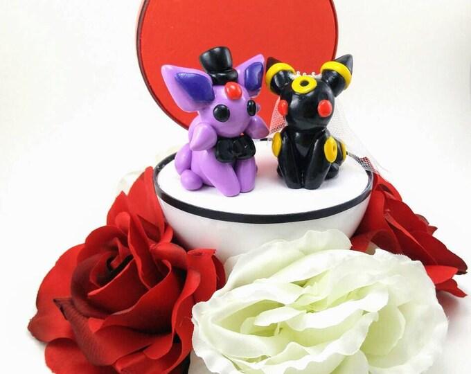 Featured listing image: Any Pokemon Wedding Cake Toppers - Custom Wedding Cake Topper - Wedding - Party - Cake - Keepsake - Small