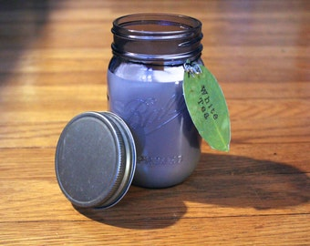 White Tea Soy Candle - Plantable Tag - Soy Wax - Wood Wick - Wildflower Seed Tag - 16 oz. Soy Candle - Ball Jar Candle