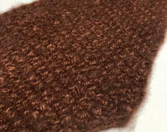 Soft - Handknit Scarf - Triangular - Baby Alpaca - Handspun - Hand Dyed - Soft