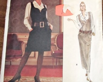 Vintage Sewing Pattern Vogue Paris Original 2406 Karl Lagerfeld Jumper, Blouse, Womens Misses Size 6 8 10 Bust 30 31 32 Uncut Factory Folds