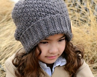 CROCHET PATTERN - Snuggle Up Slouchy - crochet hat pattern, crochet slouchy hat pattern (Toddler, Child, Adult sizes) - Instant PDF Download