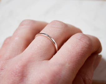 Thick Sterling Silver Ring, Silver Finger Ring, Sterling Silver Ring Band, Stackable Ring