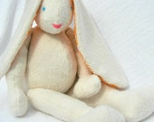 "S A L E !  Last Minute, 23"" Tall Easter Bunny Doll, Ships 2-3 Day Priority Mail, Organic Stuffed Animal, GOTS Certified Organic Cotton"