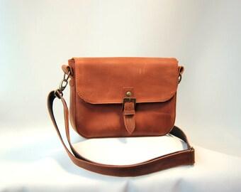 leather bag, handmade bag, brown bag, crazy horse leather bag, women bag, casual bag, messanger bag