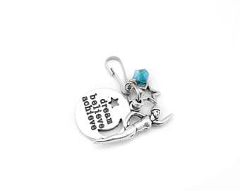 Swimmer Gift, Swimming Gifts, Swim Gift, Swim Team Gifts, Swimming Zipper Pull, Swim Zipper Charm