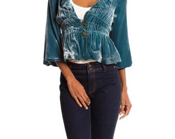 1920s Style Velvet Jacket  Size: XS/S