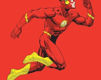 The Flash Art Print, DC Comics, Superhero, Justice League, Fan Art, 16x23 Poster Print