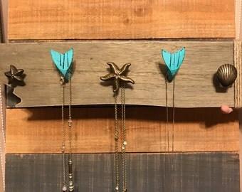 Mermaid Jewelry Organizer, Nautical Jewlery Holder, Jewelry Hanger, Jewelry Organizer
