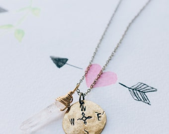 Compass Necklace || Wanderlust Necklace