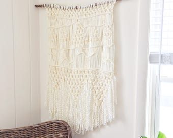Large Yarn Macrame Wall Hanging - OOAK