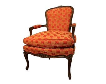 Vintage Louis XV French Carved Ladies Fauteuil Arm Chair
