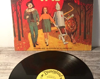 Vintage Wizard of Oz Vinyl, The Songs The Wizard of Oz, 1969, Disneyland Records 1328, Walt Disney Record Album, The Cowardly Lion of Oz, LP