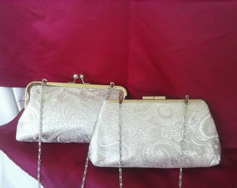 silver white gray  wedding bridesmaids evening prom clutch purse BBsCustomClutches