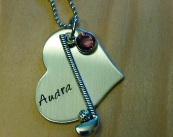 Hand Stamped Personalized Golf Necklace - Golfer Gift - Golf Gifts - Gifts for Golfers