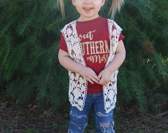 Sweet Southern Mess Tee, Toddler Shirt, Momma's Girl,Princess,Southern Girls, Glitter, Tshirt