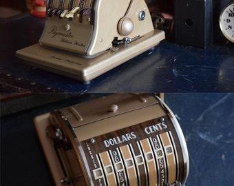 Paymaster Ribbon Writer Series 8000 Check Machine- Vintage Accounting - Locked Protection - PAYMASTER CORPORATION - Chicago, Illinois, USA