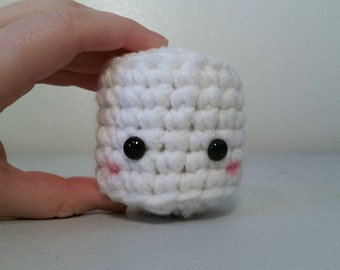 Big Amigurumi Marshmallow, Crochet Marshmallow, Marshmallow Plush, Crochet Amigurumi Marshmallow, Kawaii Marshmallow Plushie, Stuffed Toy