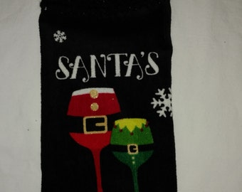 Santa's Little Helper Kitchen Hanging Towel