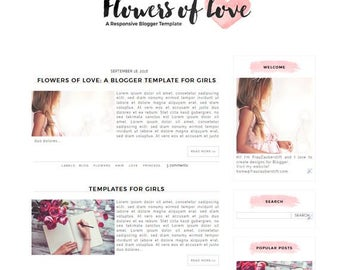 Blogger Template: Flowers of Love