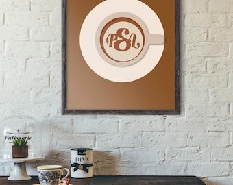 Pumpkin Spice Latte - Coffee Sign Decor - Coffee Bar - Home Decor - Unique Wedding Gift - Minimalist Poster - Dorm Room - Art Print