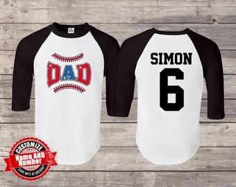 baseball dad gift , baseball shirt , baseball tshirt , dad baseball shirts , dad  baseball , personalized baseball shirt, Baseball shirts