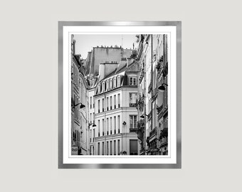 Large Black and white print, Paris wall art photography, City Architectural print, Paris large wall art poster, vertical 16x20 print, 11x14