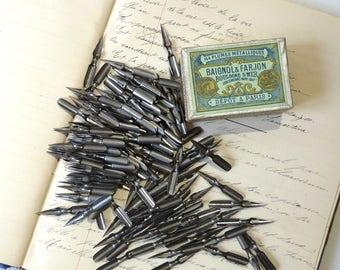 French Pen Nibs Box Baignol et Farjon 144 nibs Cap Gris Nez F Drawing Calligraphy
