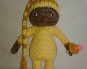 BABY BRANDI - Crochet baby doll - Amigurumi Doll