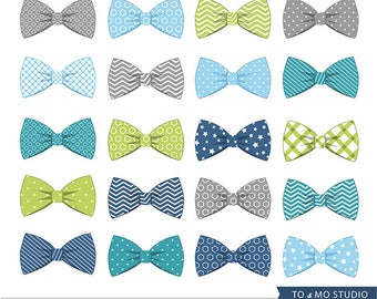 20 Bow Tie Clip art - Bow Ties Clip Art - Invitation, Baby Shower, Web Design, Scrapbooking - Cute Little Man Bow Ties - Instant download