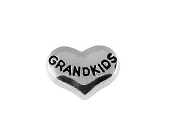 Grandkids Heart Floating Charm